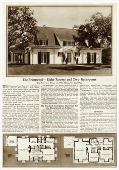 Interesting plan - kitchen/dining on one side of house, living on other. Gordon VanTine: Brentwood