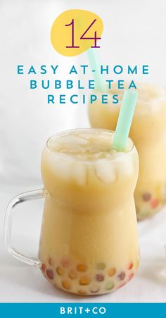 Make your fave bubble tea at home with this easy recipe guide. Easy Bubble Tea Recipe, Bubble Tea Flavors, Bubble Drink, Bubble Milk Tea, Taro Bubble Tea, Fruit Tea Recipes, Milk Tea Recipes, Coffee Recipes, Smoothie Drinks