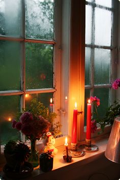 rain and candles
