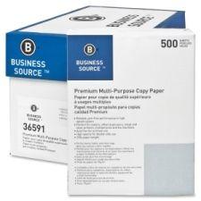 "BSN36591CT Business Source Premium Multipurpose Copy Paper - Letter - 8.50"" x 11"" - 20 lb Basis Weight - 92 Brightness - 5000 / Carton - White"