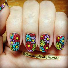 pixiedustz #nail #nails #nailart Get Nails, Hair And Nails, Hippie Nails, Self Nail, Flower Nails, Nail Stamping, Manicure And Pedicure, Hair Pieces, Eye Makeup