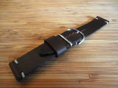 Handmade 20mm Dark Brown Horween Chromexcel Leather by VieuxHalloo