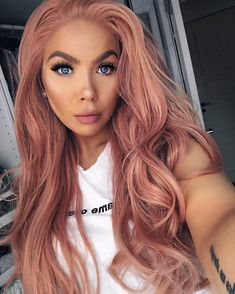 OMG, our gorgeous babe totally rocks this candy pink wig well,😘 can't believe it is a wig.🌸 Wig SKU: Want to have a… Pink Hair Dye, Pastel Pink Hair, Hair Color Pink, Cool Hair Color, Pink Wig, Dusty Rose Hair, Peach Hair, Eva Hair, Grunge Hair