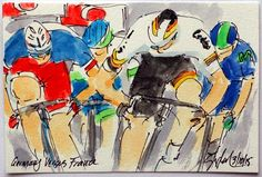 Greig Leach @ArtofCycling @EquipeFDJ @ArnaudDemare just missed in #ParisNice, more #cyclisme #art @ theartofcycling.blogspot.com #tricolore #cycling pic.twitter.com/fJryEIus61