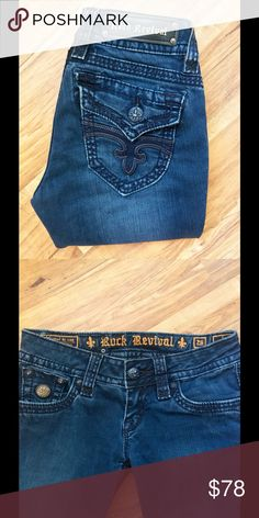"Rock Revival Skinny Jeans Rock Revival (JEN) Skinny Jeans!👖👖Women's Size 26 inseam 30"" inches! Preowned! Rock Revival Jeans Skinny"