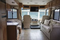 Mountain Modern Life - We help you create the environment you want to live in through Rustic Modern Design, DIY projects, & RV Renovation inspiration! Camper Renovation, Airstream Remodel, Rv Interior, Camper Makeover, Mountain Modern, Remodeled Campers, Electric Fireplace, Rv Living, Tiny Living