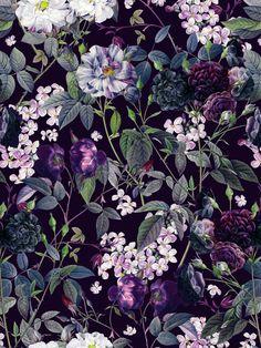 Rose Garden - Night Ii Rectangular Pillow by Burcu Korkmazyurek - Small (17