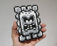 Magnet / Sprite - Thwomp from Super Mario World - Nintendo • Hama Beads • Pixel/Art • Perler Beads Sprite •