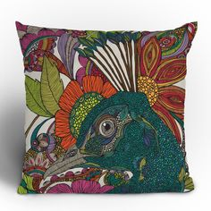 Valentina Ramos Alexis and the Flowers Throw Pillow