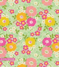 Candy Blossom floral pattern by Silvia Dekker