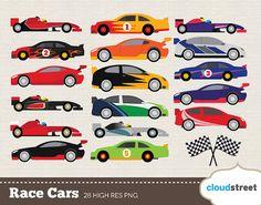 BUY 2 GET 1 FREE Race Car Clip Art