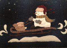 "Wool appliqué pattern"" Bunny Slope"" by Ewe+Us"