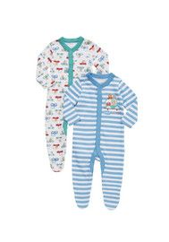 F&F 2 Pack of Fast Car Sleepsuits