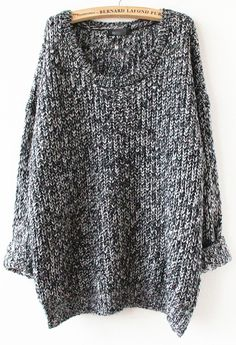 Grey Loose Knit Sweater