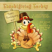 Thanksgiving Turkey - The Paper Shelter, digital stamp, scrapbooking, crafts, dodles, cliparts & templates for all your needs.