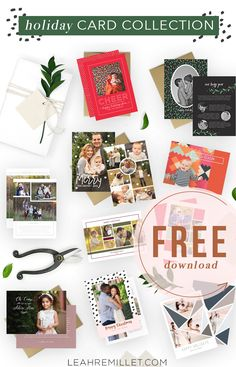 Free Download: Christmas Card Template Bundle for the Holiday | Leah Remillét