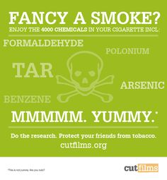 The 4000 chemicals in tobacco. Tobacco Facts, Smoking Facts, Tobacco Industry, Rumi Quotes, Films, Smoke, Big, Movies, Cinema