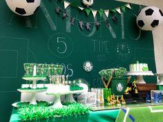 Futebol verde e branco...Palmeiras !! Soccer themed party