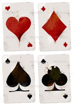 Find Poker Cards Set Grunge Dirty Style stock images in HD and millions of other royalty-free stock photos, illustrations and vectors in the Shutterstock collection. Playing Card Tattoos, Playing Cards, Card Tattoo Designs, Card Drawing, Estilo Anime, Funny Tattoos, Wedding Art, Deck Of Cards, Clip Art
