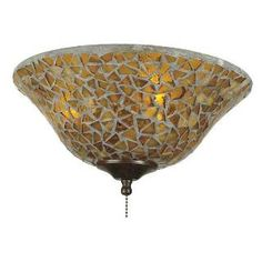Check out the Fanimation G426 Fan Light Kit Glassware in Amber/Brown Mosaic priced at $89.00 at Homeclick.com.
