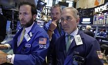 US stock market gains wiped out to close second volatile day on Wall Street | Business | The Guardian