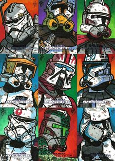 The many faces of the clone trooper Star Troopers, Clone Trooper, Star Wars Pictures, Star Wars Images, Star Wars Concept Art, Star Wars Fan Art, Star Wars Commando, Cuadros Star Wars, Star Wars Painting