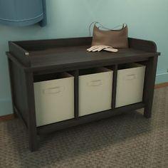 Ameriwood Wood Storage Entryway Bench  Ebay - $95.31