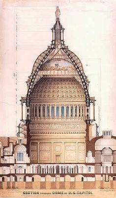 ✽   section of the dome of the us capitol