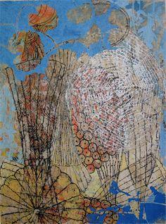 Eva Isaksen - Works on Paper - Blue Wind