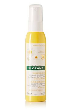 Put down the lemon juice and pick up this spray from Klorane instead. Just spritz it on your strands before heading out, and your hair will lighten up in no time. Klorane Sun Lightening Spray With Chamomile and Honey, $18, available in June at Net-A-Porter. #refinery29 http://www.refinery29.com/2016/05/112003/best-net-a-porter-june-beauty-products#slide-11