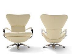 Swivel armchair with headrest bakea les contemporaines collection by roche bobois furniture - De bobois rots zit ...