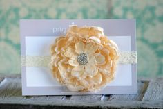 Lace Flower Headband  Flower Girl Headband by PrimCoutureShop, $11.75