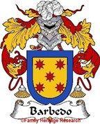 Barbedo Spanish Coat of Arms Print Family Crest Barbedo