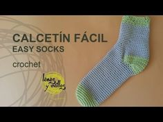 Tutorial Calcetines Crochet Fácil Crochet Cocoon, Chunky Crochet, Crochet Slippers, Love Crochet, Crochet Granny, Diy Crochet, Crochet Needles, Crochet Stitches, Crochet Patterns
