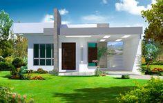 Casa Térrea com 2 quartos e 1 suite. Plantas e prontas para inciar a construção por um preço muito especial. Veja também outros modelos de casas prontos.