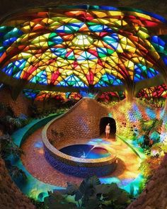 """voiceofnature: kickthegrind: This is the green. - voiceofnature: """" kickthegrind: This is the green house in the """"Plant Kingdom"""" of el Nido de Quetzalcoatl in Mexico. Created by Javier Senosain, this is one of the many examples of Organic Architecture. Sacred Architecture, Organic Architecture, Interior Architecture, Interior And Exterior, Cob House Interior, Residential Architecture, Contemporary Architecture, Earthship Home, Earthship Design"""