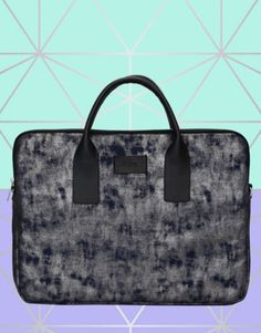 funda-portátil-silver-blue-3 Tote Bag, Metal, Bags, Collection, Fashion, Notebook Covers, Tejidos, Handbags, Moda
