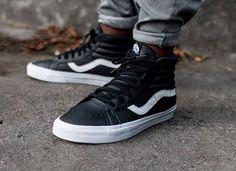 Vans Sk8 Hi Reissue Premium Leather Black