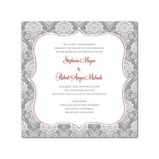 Damask Twist Vintage Wedding Invitations