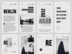 Art Direction for the project called Urban Culture - Berlin.During the history, Berlin has established itself as a hub of urban culture. With this art direction, I wanted to show the importance o. Mobile Web Design, App Design, Layout Design, Web Layout, Berlin Graffiti, Digital History, Event App, Presentation Layout, Ui Web