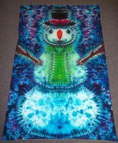 tie dye snowman by type b tie dye