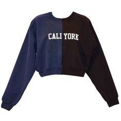 Cynthia Rowley Caliyork Cropped Sweatshirt ($205) ❤ liked on Polyvore featuring tops, hoodies, sweatshirts, cynthia rowley, cut-out crop tops, cropped sweatshirt, cynthia rowley tops and navy blue top