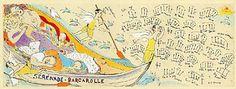 「セレナーデ-舟歌」 版画(額付)