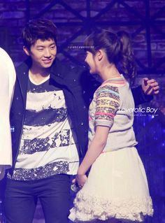 IU and Wooyoung Jang Wooyoung, Dream High, Korean Music, Kdrama, Love, Sequin Skirt, Couples, Amor, Couple