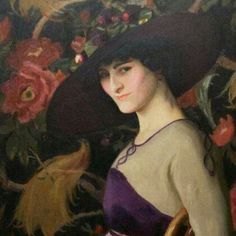 """La Russe 1913 The American Impressionist artist William McGregor Paxton is considered one of the """"Boston School"""" painters of the early Woman Painting, Figure Painting, Turbans, American Impressionism, John Everett Millais, Impressionist Artists, American Artists, Beautiful Paintings, Figurative Art"""