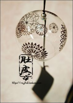 Aliexpress.com : Buy 4 japanese style glass jianghu windbags wind chimes endulge   black from Reliable glass beads black suppliers on TGLOE. $7.50