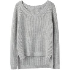 Rag & Bone Lund Pullover (5.105 UYU) ❤ liked on Polyvore featuring tops, sweaters, shirts, jumpers, shirt sweater, pullover shirt, light gray shirt, shirt top and light grey shirt