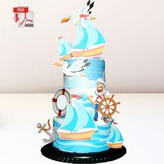 Nautical Diaper Cake Template