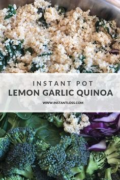 Instant Pot Lemon Garlic Quinoa - Instant Loss - Conveniently Cook Your Way To Weight Loss Easy Pressure Cooker Recipes, Instant Pot Pressure Cooker, Pressure Cooking, Slow Cooker, Blender Recipes, Healthy Recipes, Ninja Recipes, Ww Recipes, Healthy Dinners