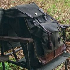 1952 reconditioned Wynnchester Swiss Army Mountain rucksack, waxed canvas & leather